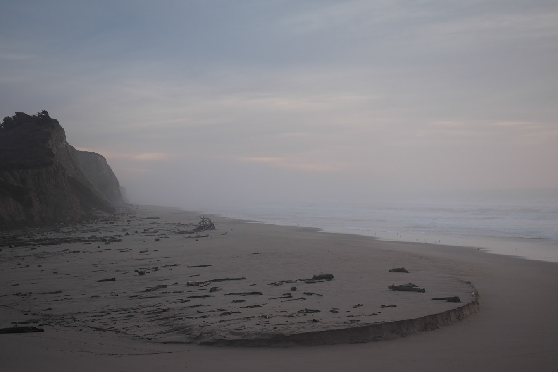 Pacific fog crawling landwards