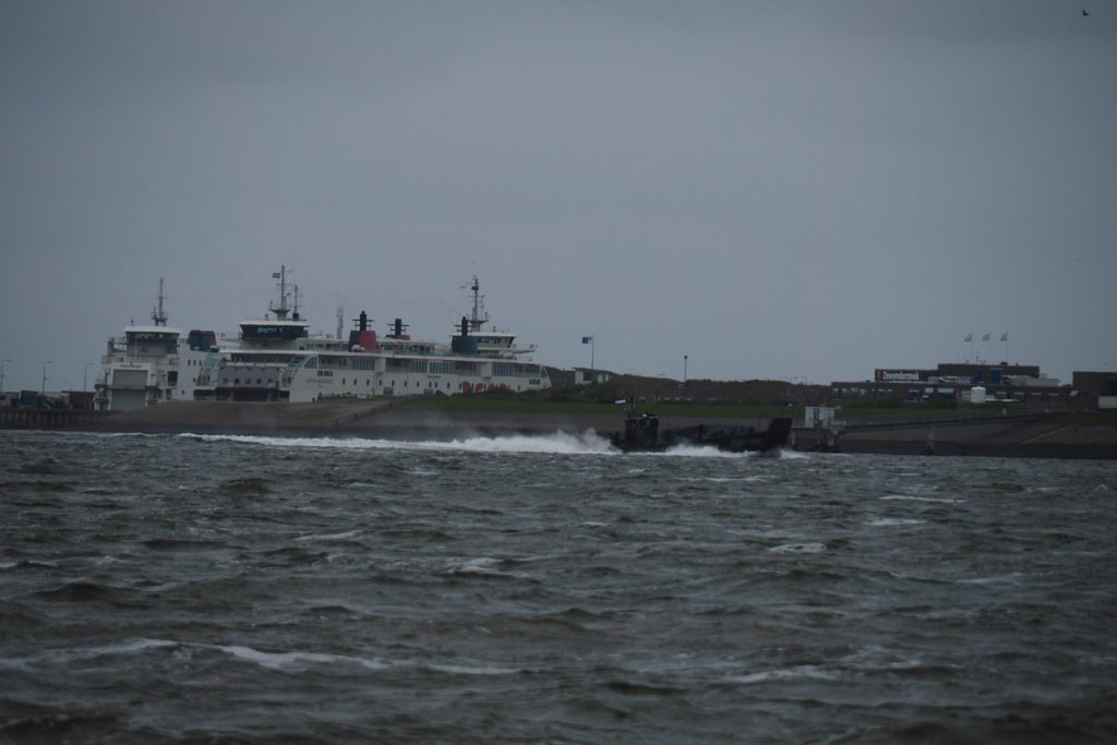 Dutch navy boat passing by