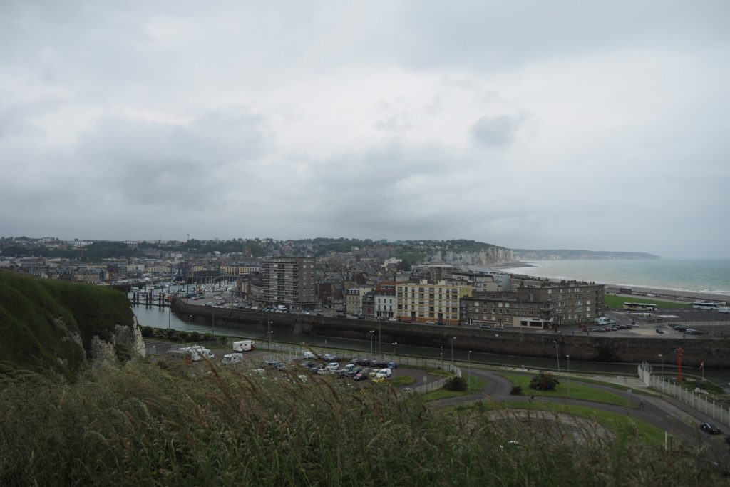 View over Dieppe from the chapel