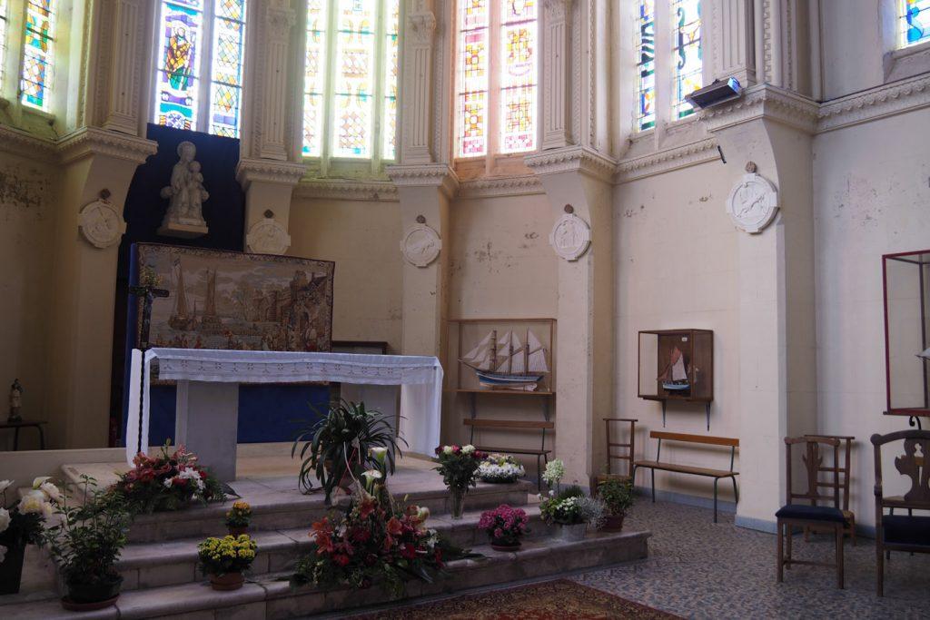 Inside the seafarer's chapel