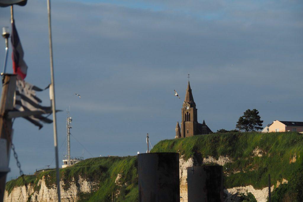 Chapel Notre Dame de Bon-Secours (Our Lady of Good Help) over the harbour's entrance