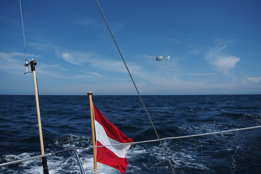 Coastguard inspection on the way Dieppe - Fécamp