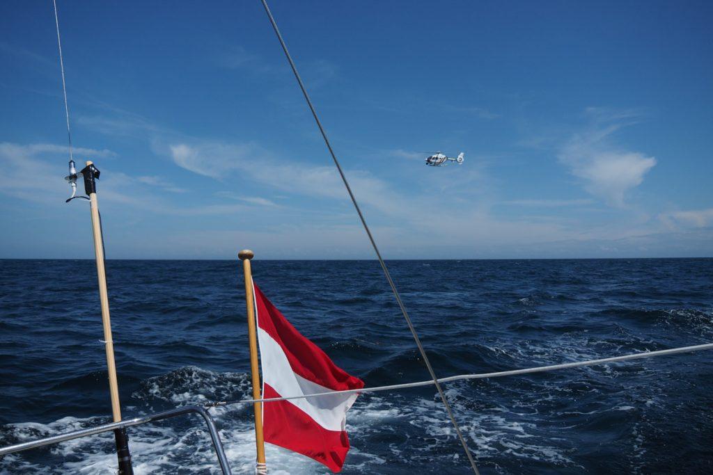 Coastguard inspection on the way Dieppe - Fécamp