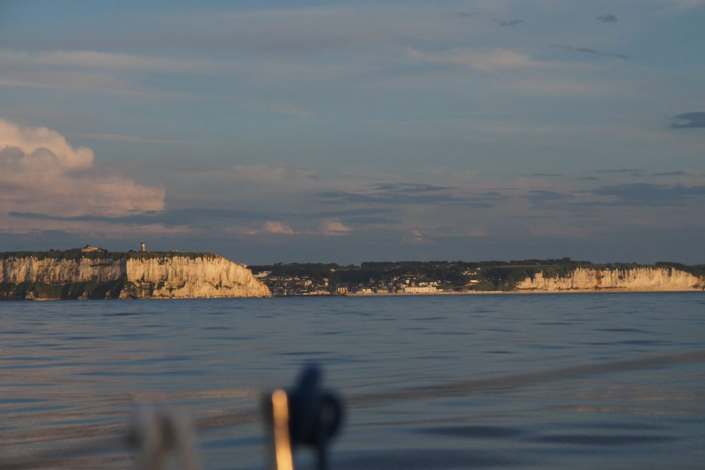 Normandy's cliffs in the evening sun