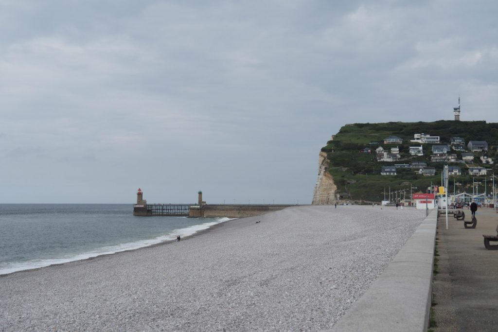 Fécamp's beach and cliff