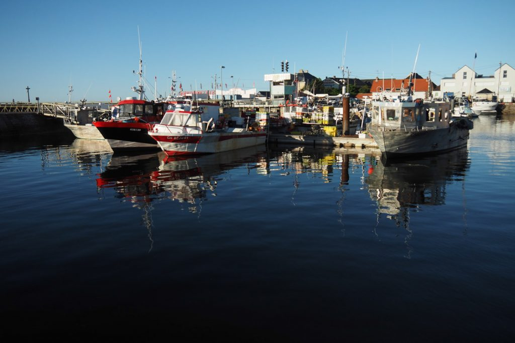 Fishing boats in the harbor of Grandcamp-Maisy