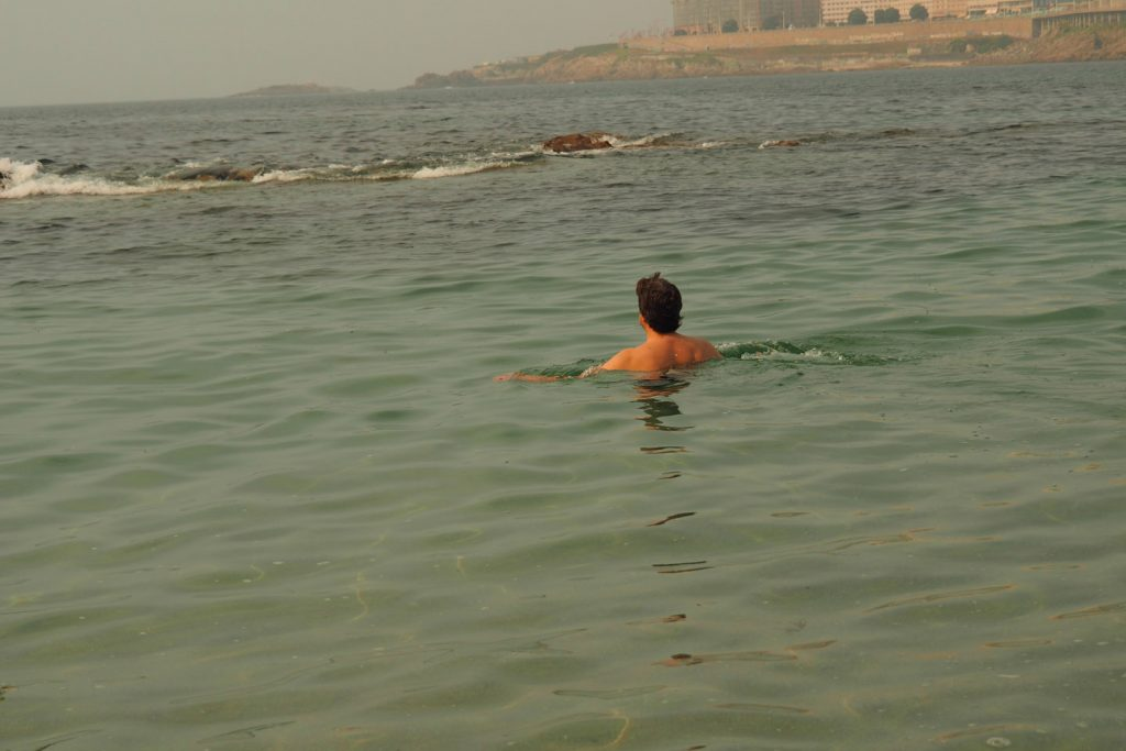 The south. Finally. After months i'm there... (unknown guy in the sea)