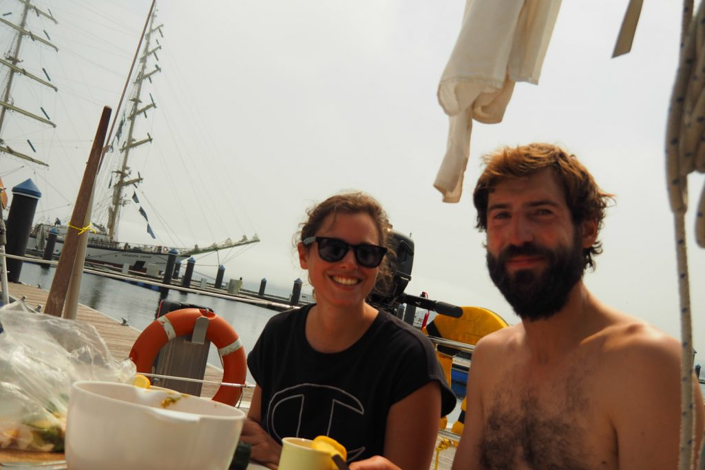 Celebrating landfall after 3 days at sea. In the sun of the south :)