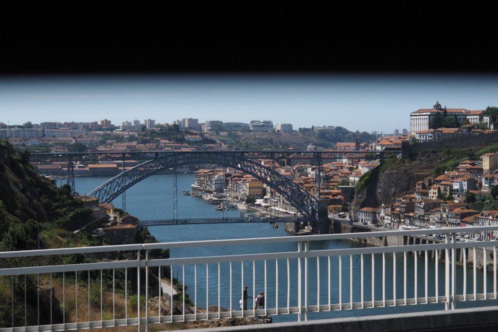 Porto's iron bridge spanning over the river Duoro