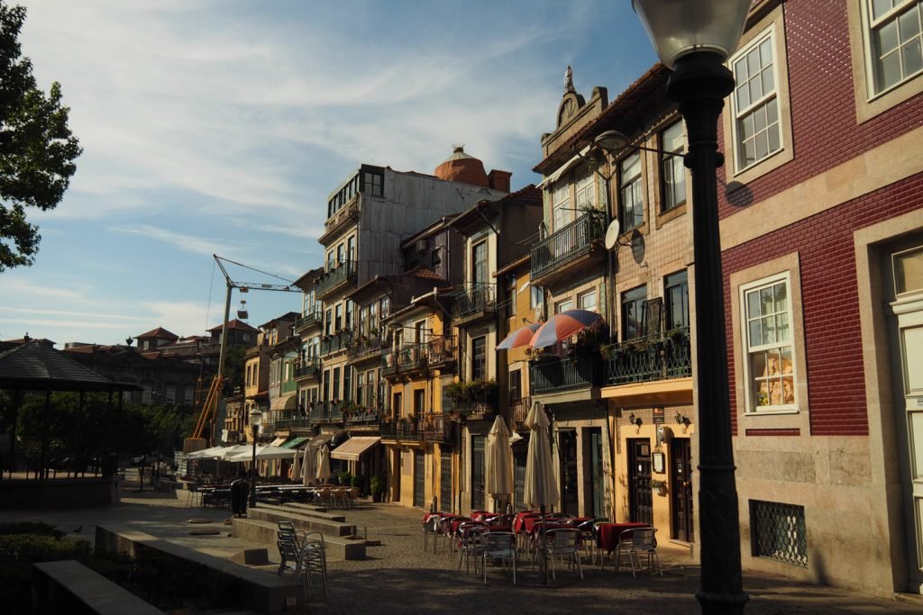 Tiled houses in Porto