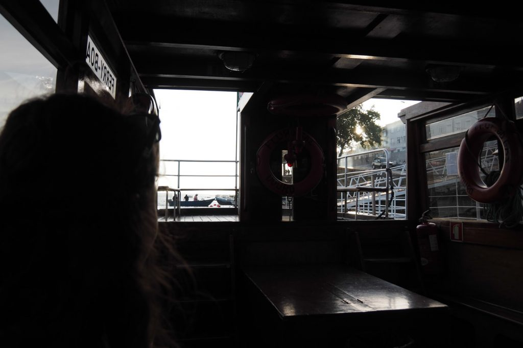 Taking the ferry over Duoro river for a last supper on mala moja