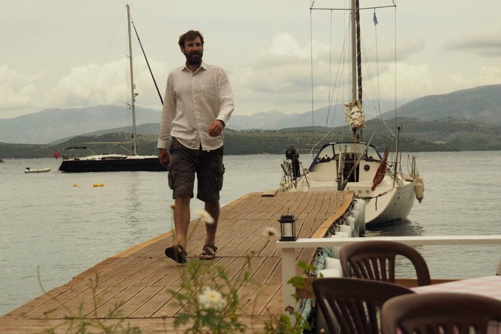 Mala Moja docked at a tavern in Corfu